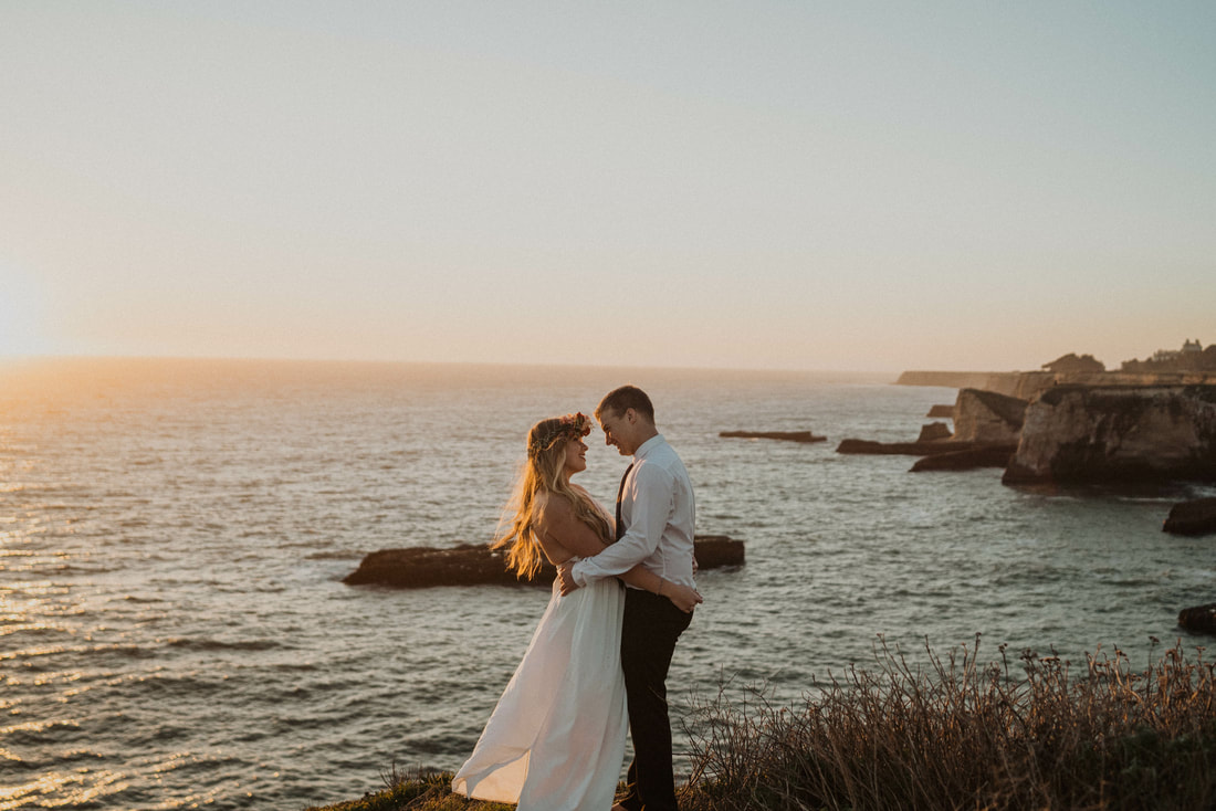 Intimate Elopement at Shark Fin Cove near Santa Cruz, California